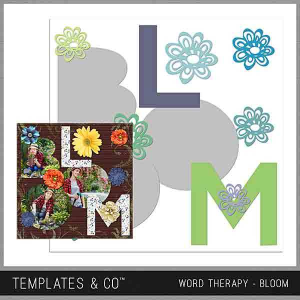 Word Therapy - Bloom Digital Art - Digital Scrapbooking Kits