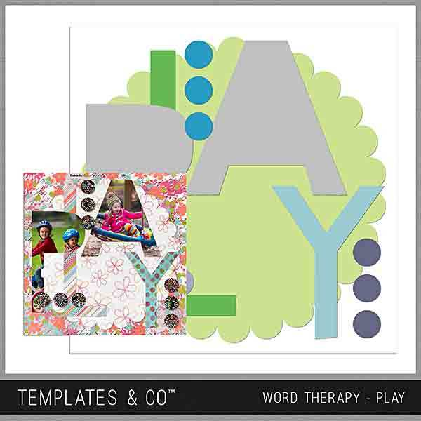 Word Therapy - Play Digital Art - Digital Scrapbooking Kits