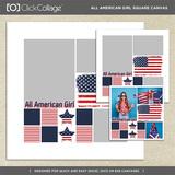All American Girl Square Canvas