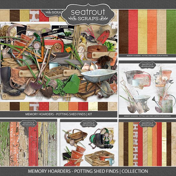 Memory Hoarders Potting Shed Finds - Collection Digital Art - Digital Scrapbooking Kits