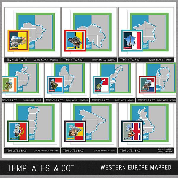 Europe Mapped - Western Europe