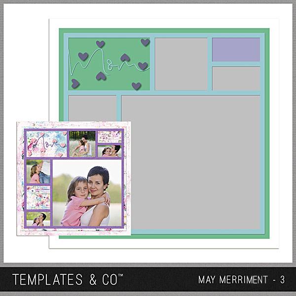 May Merriment 3 Digital Art - Digital Scrapbooking Kits