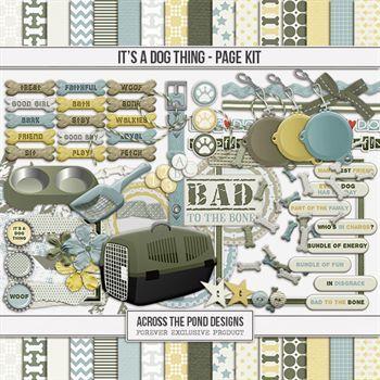 It's A Dog Thing Page Kit Digital Art - Digital Scrapbooking Kits