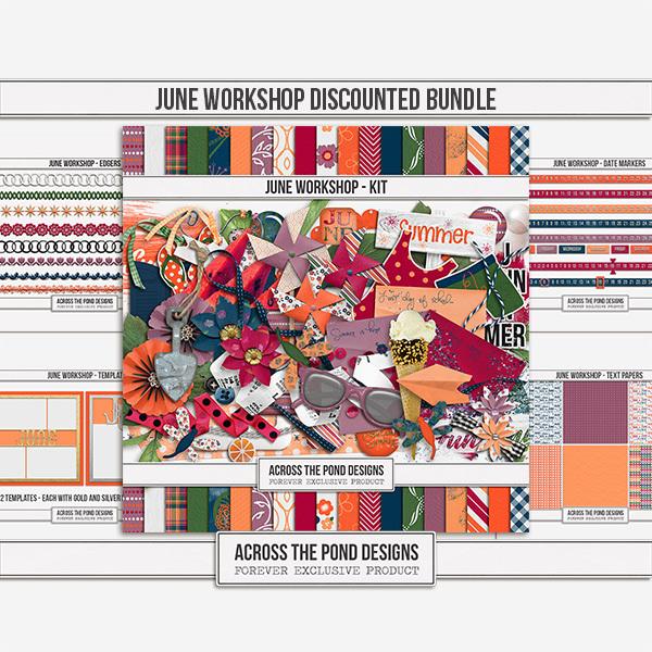 June Workshop - Discounted Bundle Digital Art - Digital Scrapbooking Kits
