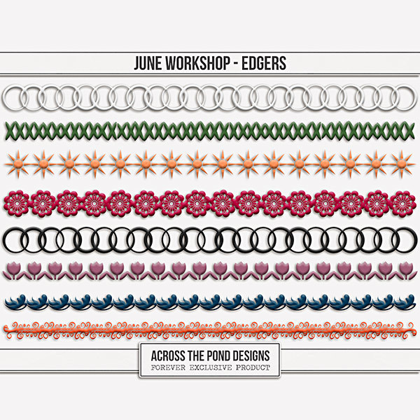 June Workshop - Edgers Digital Art - Digital Scrapbooking Kits
