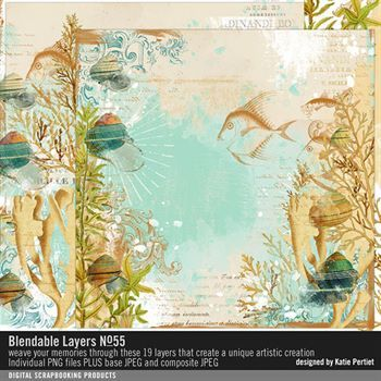 Blendable Layers No. 55 Digital Art - Digital Scrapbooking Kits