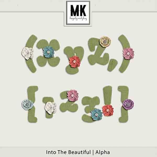 Into The Beautiful - Individual Parts - Alpha Digital Art - Digital Scrapbooking Kits