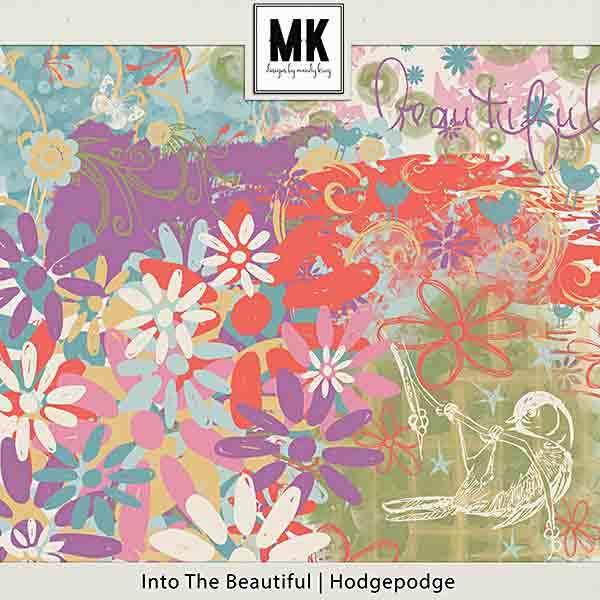 Into The Beautiful - Individual Parts - Hodgepodge Digital Art - Digital Scrapbooking Kits