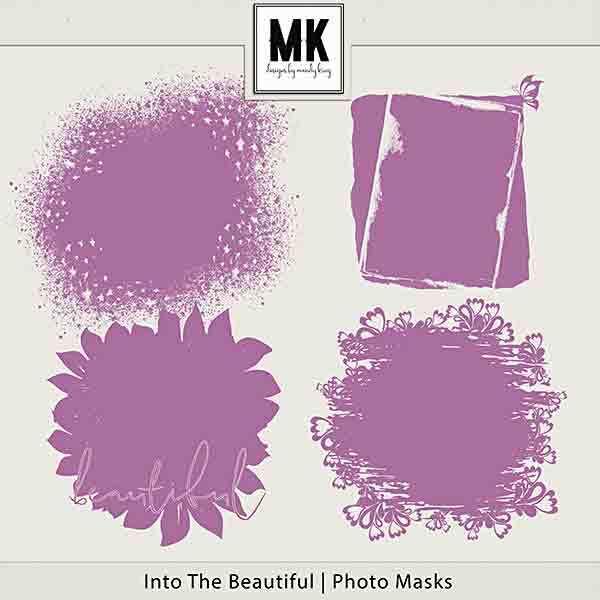 Into The Beautiful - Individual Parts - Photo Masks Digital Art - Digital Scrapbooking Kits