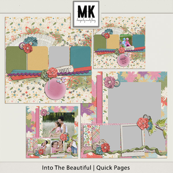 Into The Beautiful - Individual Parts - Quick Pages Digital Art - Digital Scrapbooking Kits