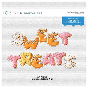 The Sweet Life Alpha Digital Art - Digital Scrapbooking Kits