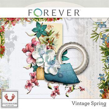 Vintage Spring Freebie Digital Art - Digital Scrapbooking Kits