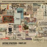 Vintage Ephemera - Farm Life