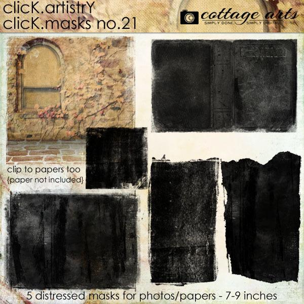 Click.Artistry Click.Masks 21 Digital Art - Digital Scrapbooking Kits