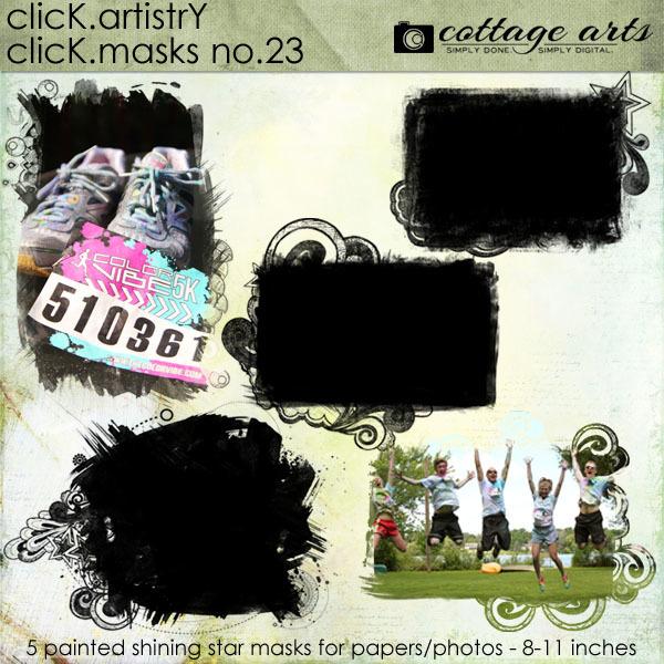 Click.Artistry Click.Masks 23 Digital Art - Digital Scrapbooking Kits
