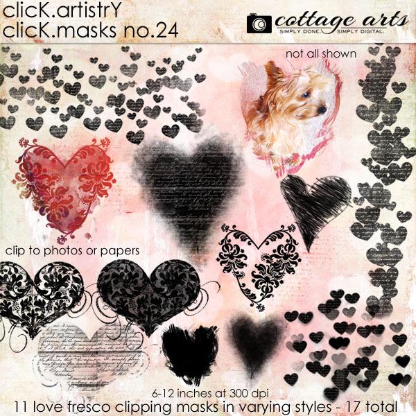 Click.Artistry Click.masks 24 - Love Fresco Digital Art - Digital Scrapbooking Kits