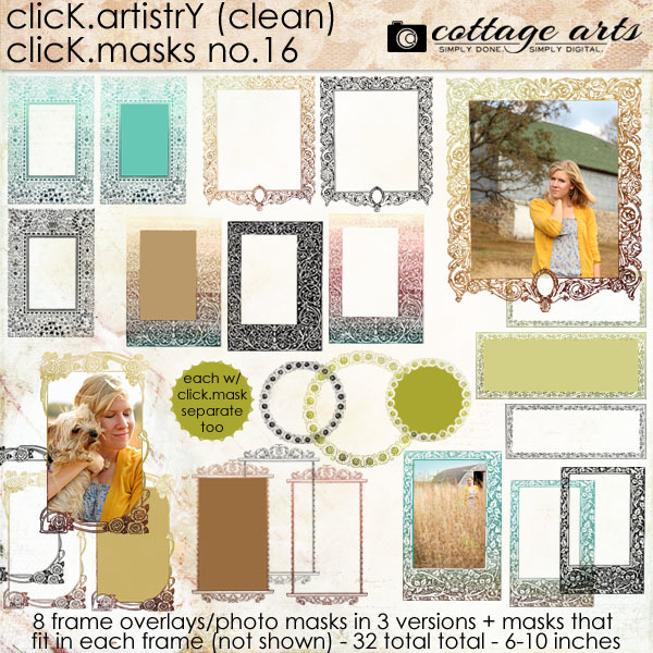Click.Artistry Click.Masks 16 Digital Art - Digital Scrapbooking Kits