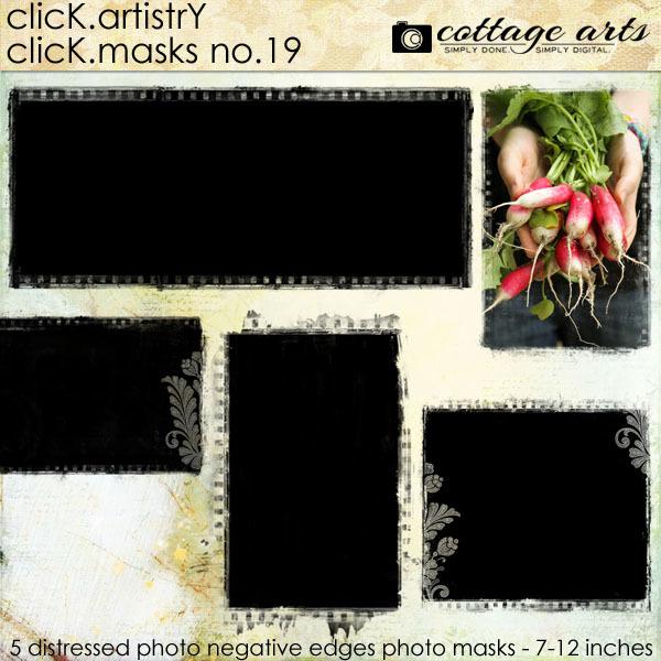 Click.Artistry Click.Masks 19 Digital Art - Digital Scrapbooking Kits