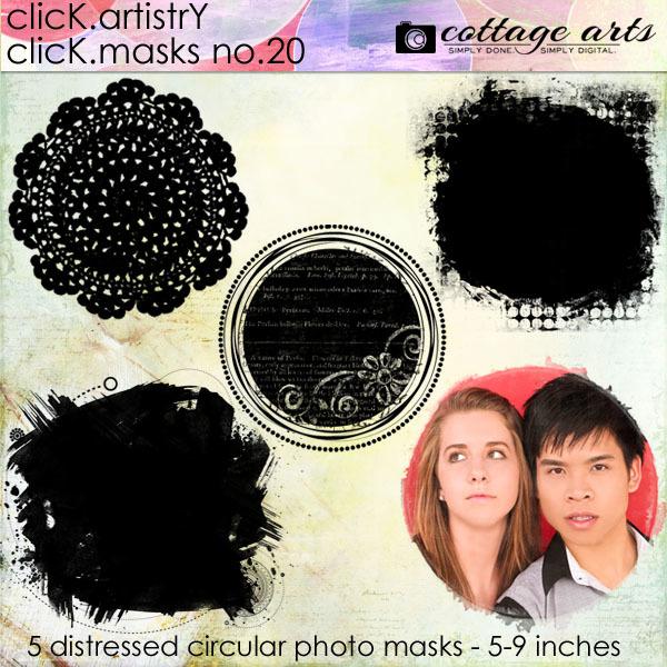 Click.Artistry Click.Masks 20 Digital Art - Digital Scrapbooking Kits