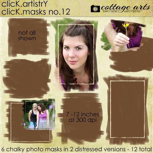 Click.Artistry Click.Masks 12 Digital Art - Digital Scrapbooking Kits