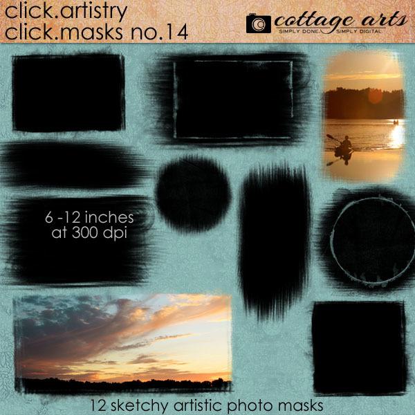 Click.Artistry Click.Masks 14 Digital Art - Digital Scrapbooking Kits