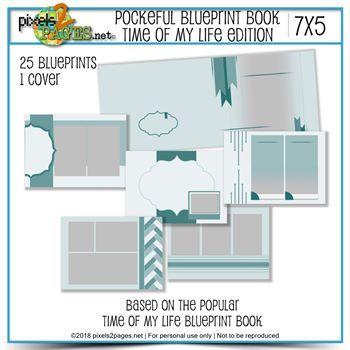 Pocketful Blueprint Book - Time Of My Life Edition (7x5) Black Friday Exclusive Digital Art - Digital Scrapbooking Kits