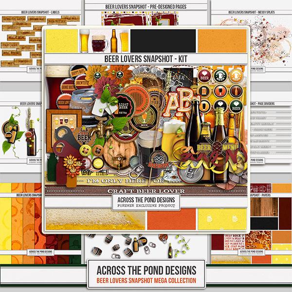 Beer Lovers Mega Collection Digital Art - Digital Scrapbooking Kits