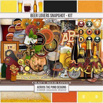 Beer Lovers Snapshot - Page Kit Digital Art - Digital Scrapbooking Kits
