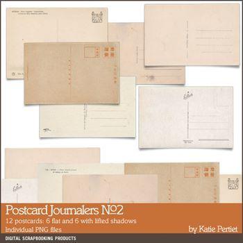 Postcard Journalers No. 02 Digital Art - Digital Scrapbooking Kits