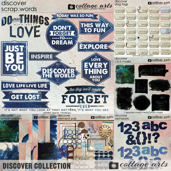 Discover Collection Digital Art - Digital Scrapbooking Kits