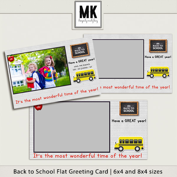 Back To School Flat Greeting Card