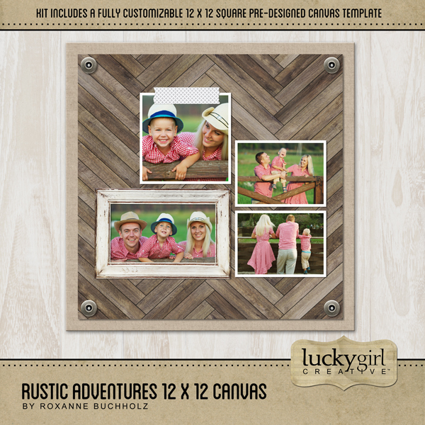 Rustic Adventures 12x12 Canvas Digital Art - Digital Scrapbooking Kits