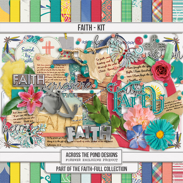 Faithfull Series - Faith Page Kit Digital Art - Digital Scrapbooking Kits