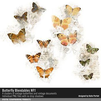 Butterfly Blendables No. 01 Digital Art - Digital Scrapbooking Kits