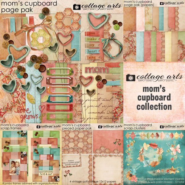 Mom's Cupboard Collection Digital Art - Digital Scrapbooking Kits