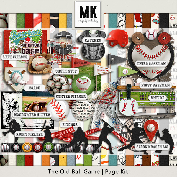 The Old Ball Game - Page Kit Digital Art - Digital Scrapbooking Kits
