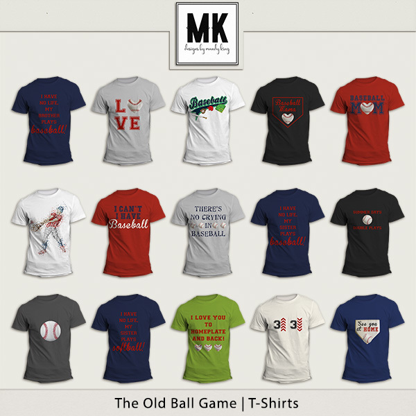 The Old Ball Game - T-shirts Digital Art - Digital Scrapbooking Kits