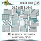 Classic Blueprint Collection 2015 - Mega Bundle (11x8.5)