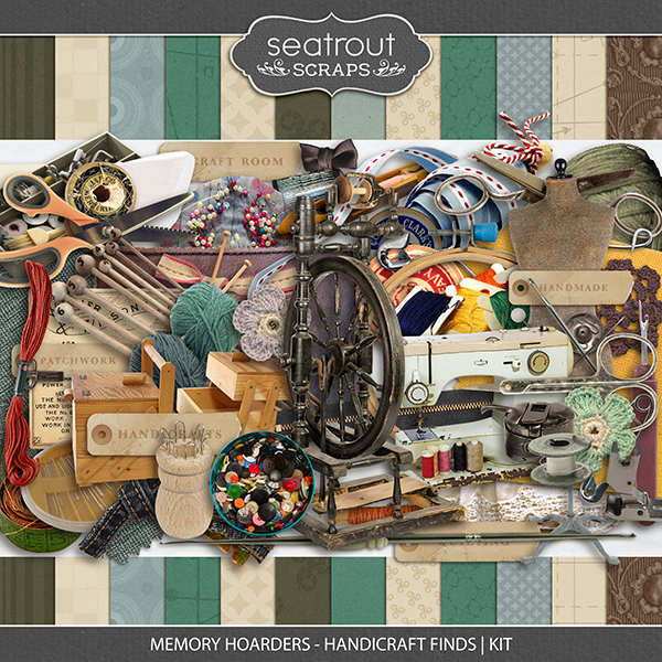 Memory Hoarders - Handicraft Finds Kit Digital Art - Digital Scrapbooking Kits