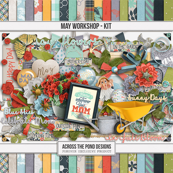 May Workshop - Page Kit Digital Art - Digital Scrapbooking Kits