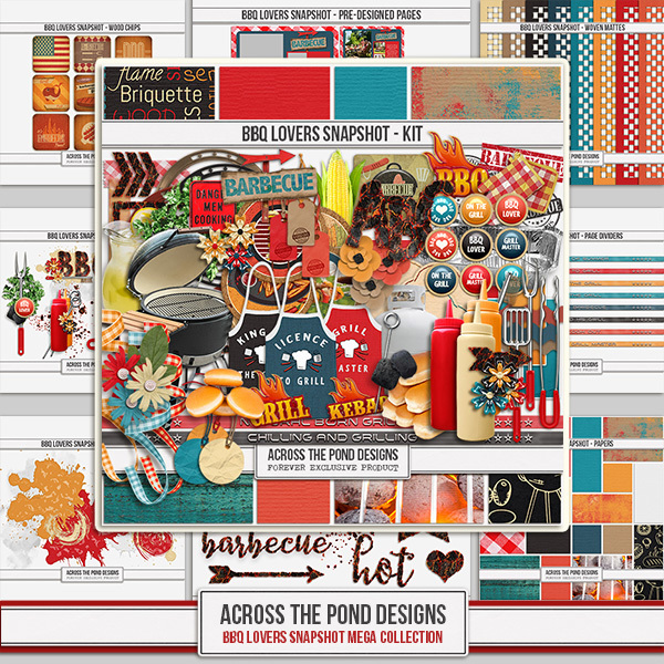 BBQ Lovers Mega Collection Digital Art - Digital Scrapbooking Kits