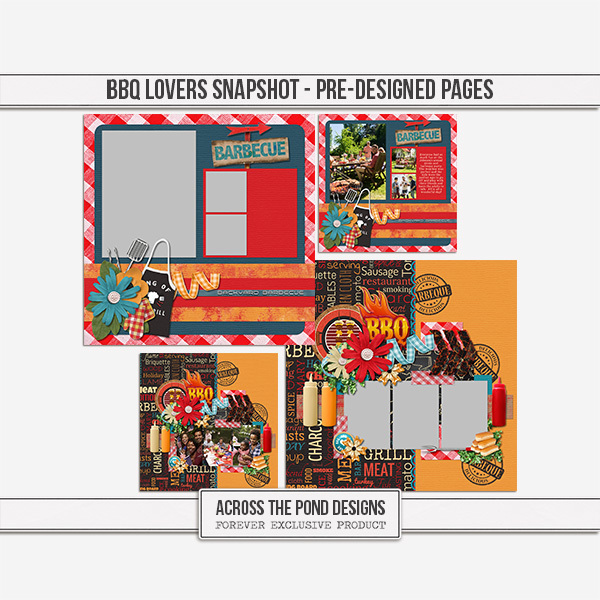 BBQ Lovers Snapshot - Pre-designed Pages Digital Art - Digital Scrapbooking Kits