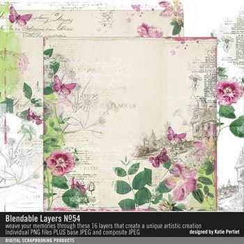 Blendable Layers No. 54 Digital Art - Digital Scrapbooking Kits