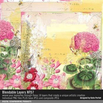 Blendable Layers No. 57 Digital Art - Digital Scrapbooking Kits
