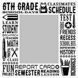 School Grades Subway Art - 6th Grade