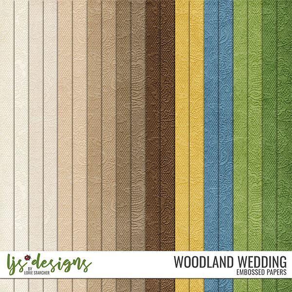 Woodland Wedding Papers Digital Art - Digital Scrapbooking Kits