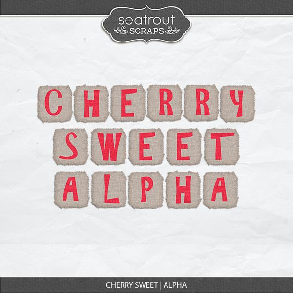 Cherry Sweet Alpha Digital Art - Digital Scrapbooking Kits