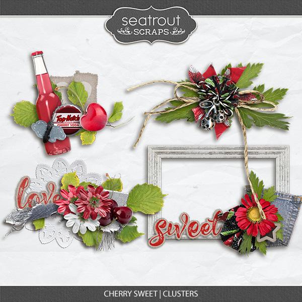 Cherry Sweet Clusters Digital Art - Digital Scrapbooking Kits