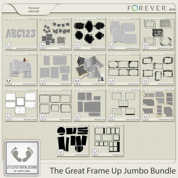 The Great Frame Up Jumbo Bundle Digital Art - Digital Scrapbooking Kits