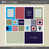 Let's Go Travel Pre-designed Book And Card Kit Bundle